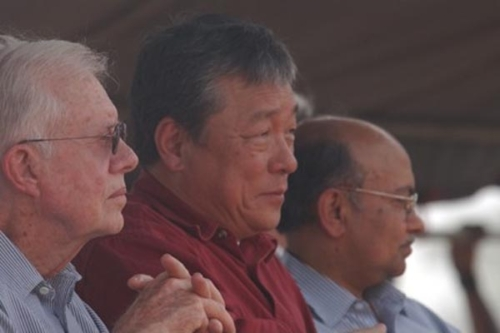 Kul Gautam in Ghana-with- Jimmy Carter-and-jw-lee